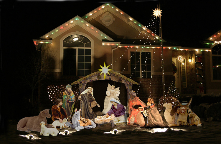 Christmas nativity yard lawn set high quality for Baby jesus lawn decoration
